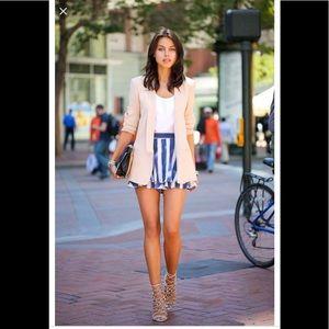 Nanette Lepore blue and white stripe skort